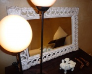 Mirror and Ostrich lights